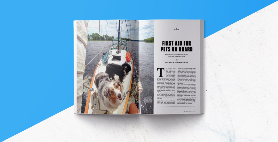 Pacific Yachting magazine spread.
